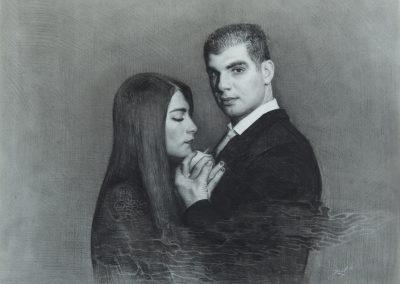 Sehnsucht, 109x94 cm, 2018, carbon sobre papel