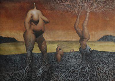 Serenada Eschizofrana, 105x90 cm, 2016, óleo sobre canvas