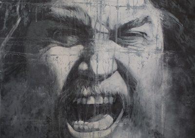 Silent Scream, 55 x 75cm, 2019, Óleo sobre madera