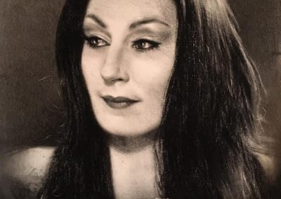 """""""Morticia"""" Charcoal on paper 48x70 2020"""