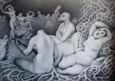 Bacchanalia | Oil painting on canvas 215 x 150 cm | 2020